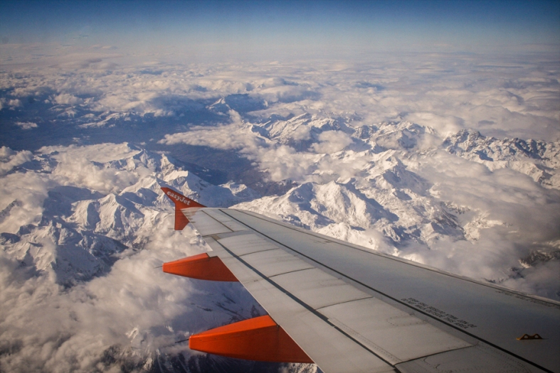 Volando sobre Los Alpes / Flying over the Alps