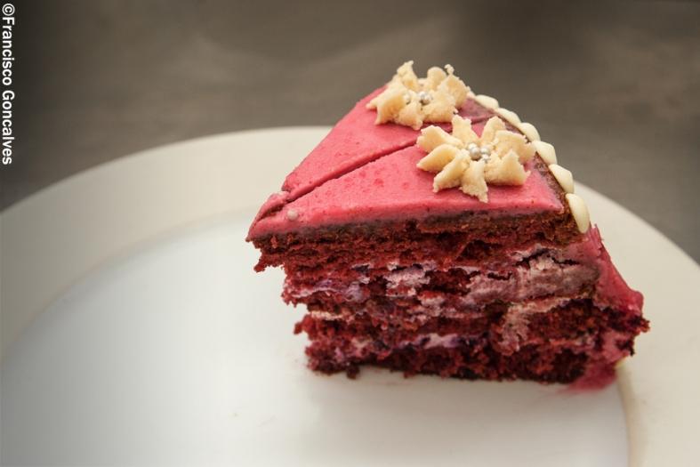 Una especialidad: la tarta Red Velvet / A speciality: the Red Velvet cake.