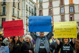Venezuelans protest in Barcelona