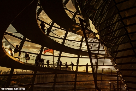 Sunset inside the Dome