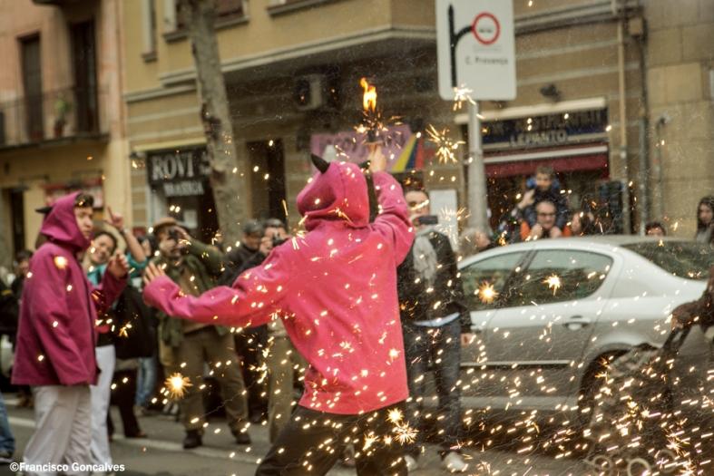 También hubo tradiciones catalanas, como los correfocs.