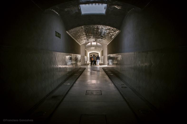 Los túneles subterráneos... como de película de terror.