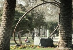 El parque está lleno de esculturas