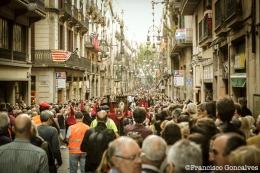 Calle Ferran llena