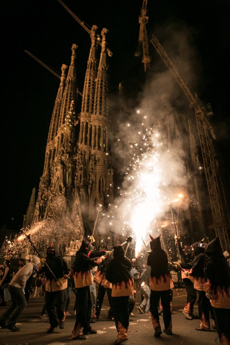 Los diablos en La Sagrada Familia