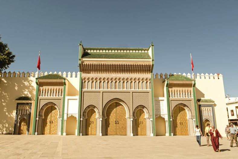 La entrada principal del Palacio Real