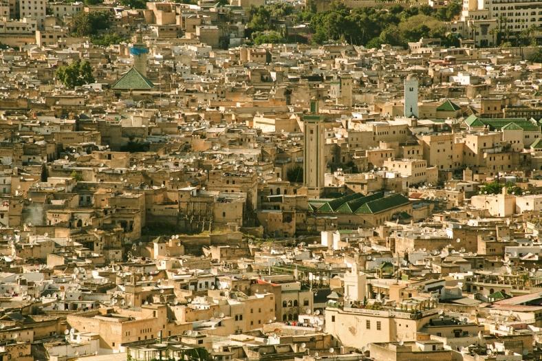 Vista de la medina antigua desde la Fortaleza del Sur
