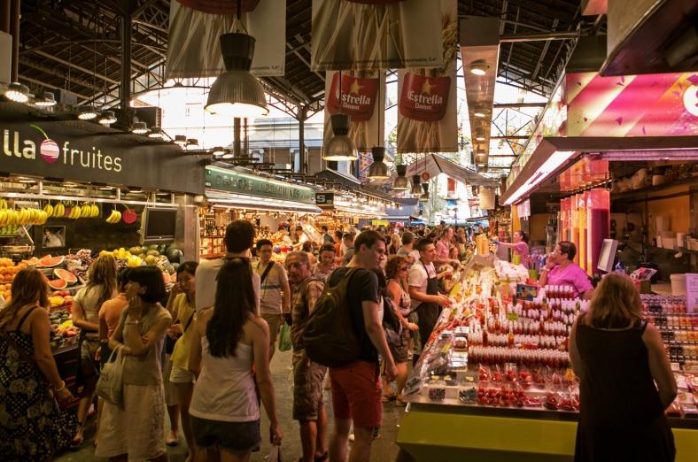 El famoso Mercado de La Boqueria