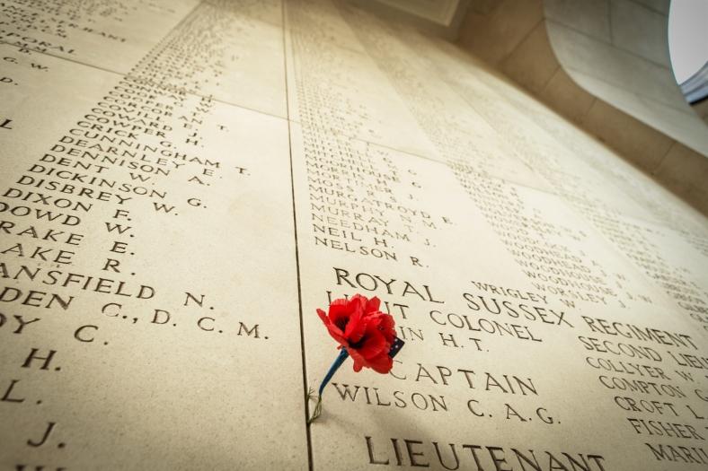 En el Memorial de Menin se conmemoran los nombres de 54.896 soldados