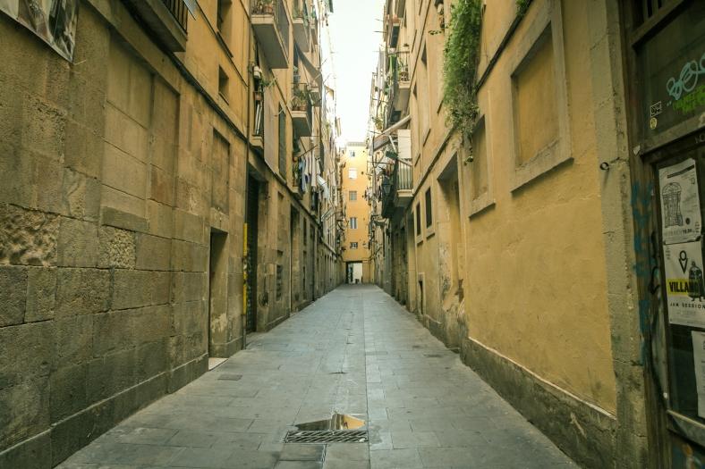 La típica callecita de El Raval