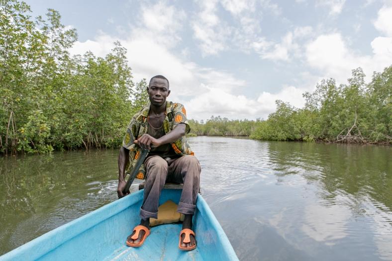 Remando en los manglares