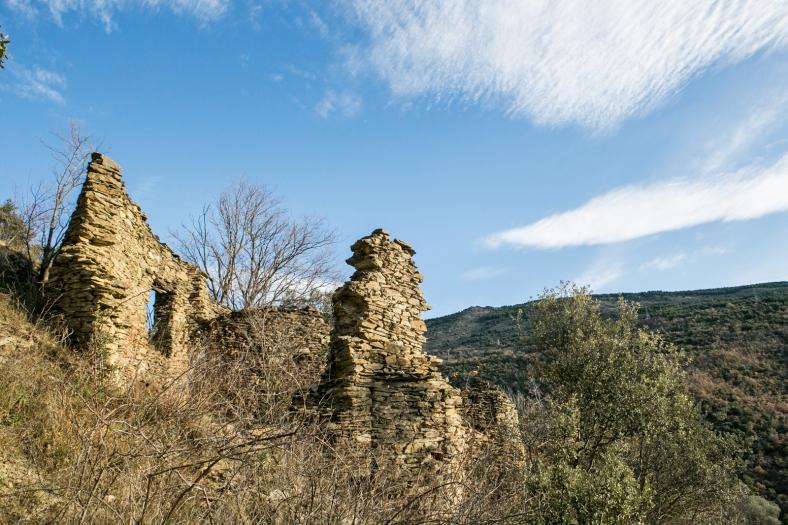 Ruinas en la parte alta de Saulet