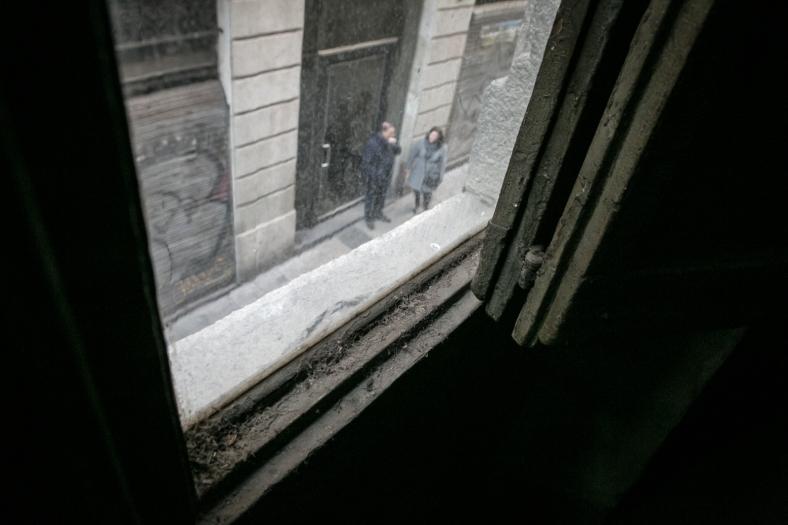 La vista a la calle Regomir