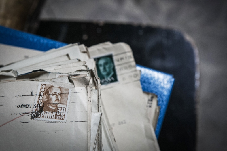 Correspondencia con filatelia de Franco
