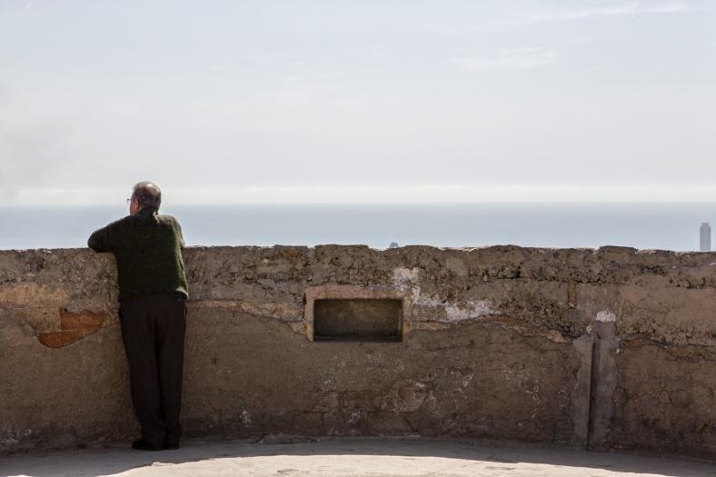 Mucha gente mayor también disfruta las vistas