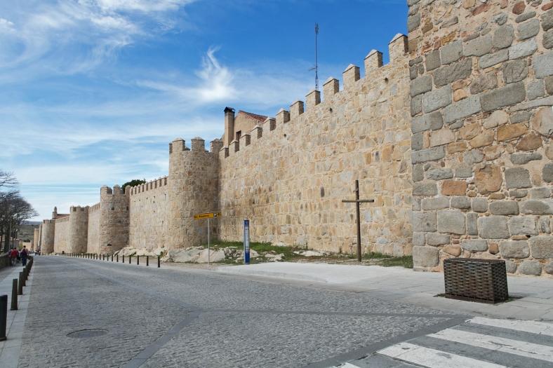 Una vista desde el exterior de la muralla