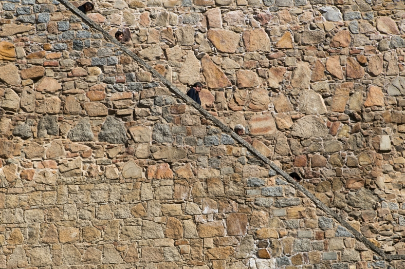 Bajando de la muralla