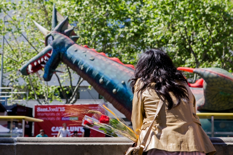 La chica y el dragón