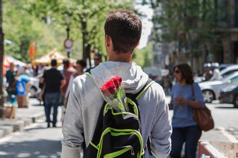 Rosas en la mochila