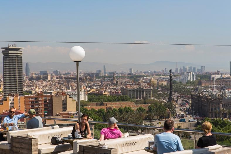 Una terraza con vistas geniales