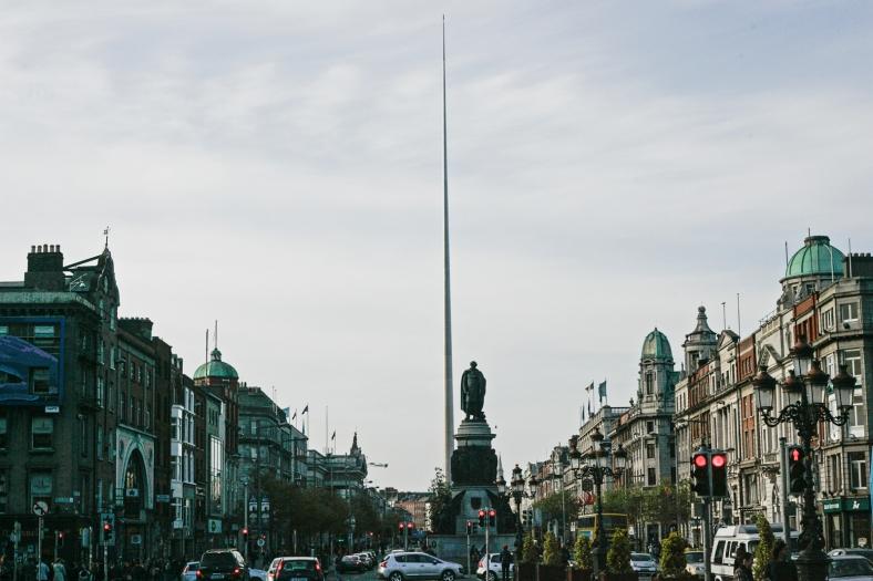 O'Connell Street y la Spire of Dublin