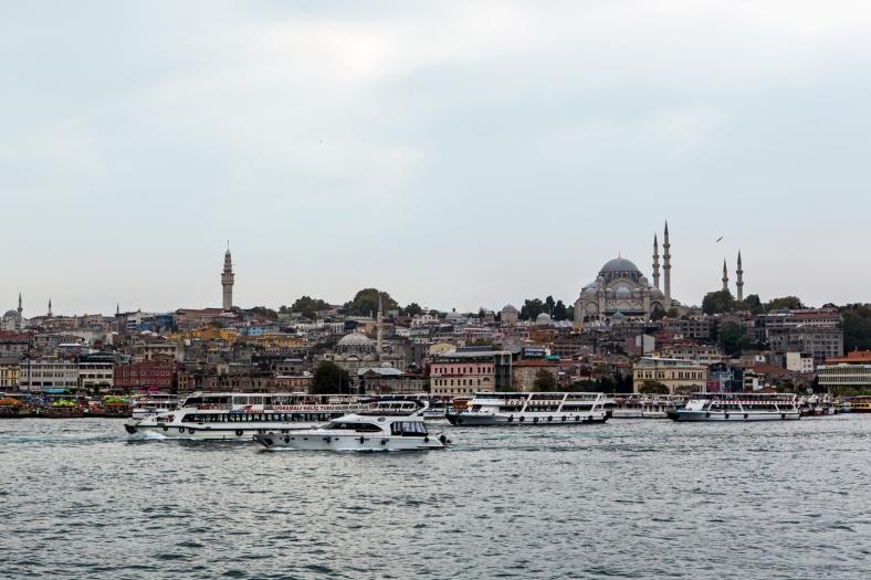 Vista de la mezquita Süleymaniye y el Cuerno de Oro