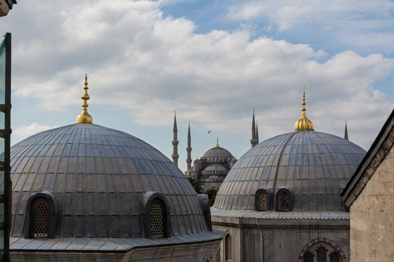 La Mezquita Azul desde Hagia Sophia