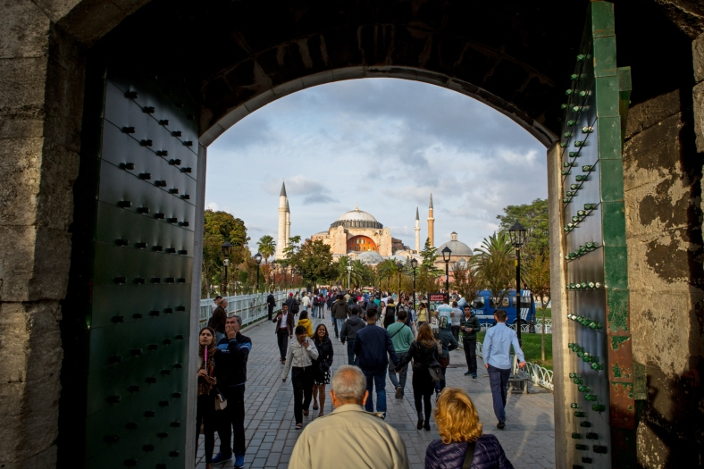 Hagia Sophia vista desde la Mezquita Azul