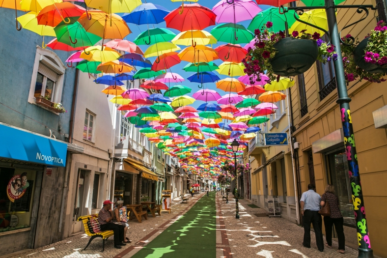 Umbrella Sky Project en Águeda
