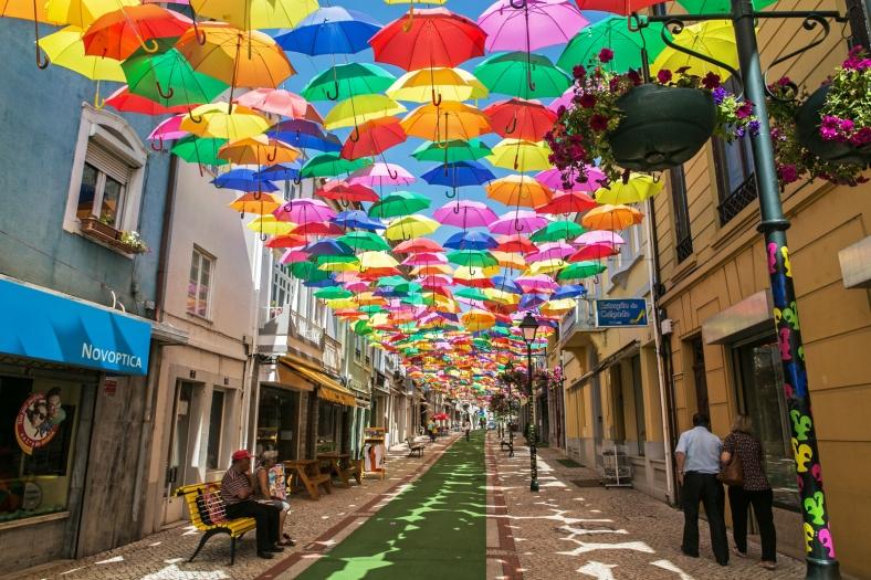 Umbrella Sky Project en Águeda