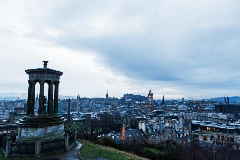 La postal clásica de Edimburgo