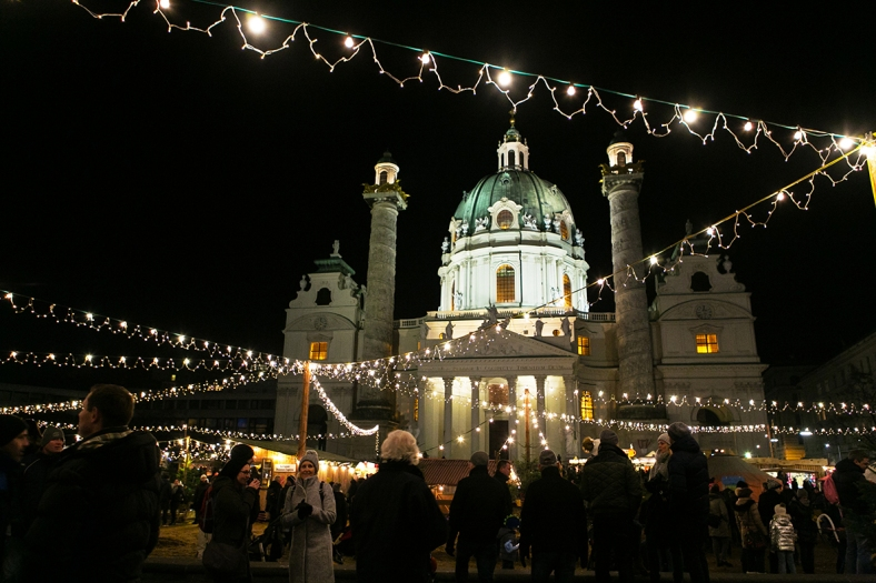El eco-friendly mercado de Karlsplatz