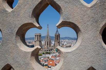 La Catedral de Barcelona vista desde lo alto